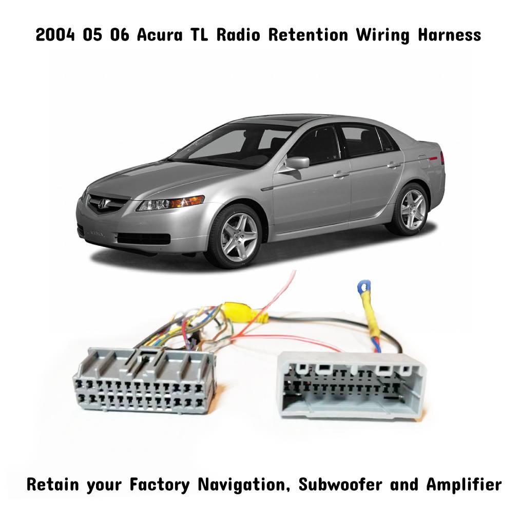 2004 2005 2006 Acura TL Navigation & Subwoofer/Amp